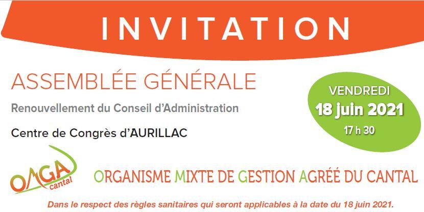 1ère page Invitation AG 2021